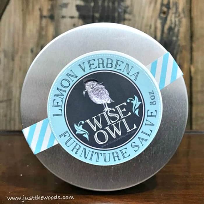 wise owl, lemon verbena, furniture salve, verbena from wise owl
