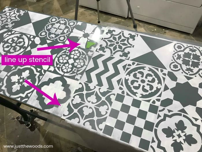 how to line up stencil patterns, wall stencils, cutting edge stencils, wall stencil designs