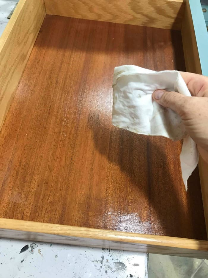 condition wood, rub lemon verbena into wood drawers, restore wood, refinish furniture