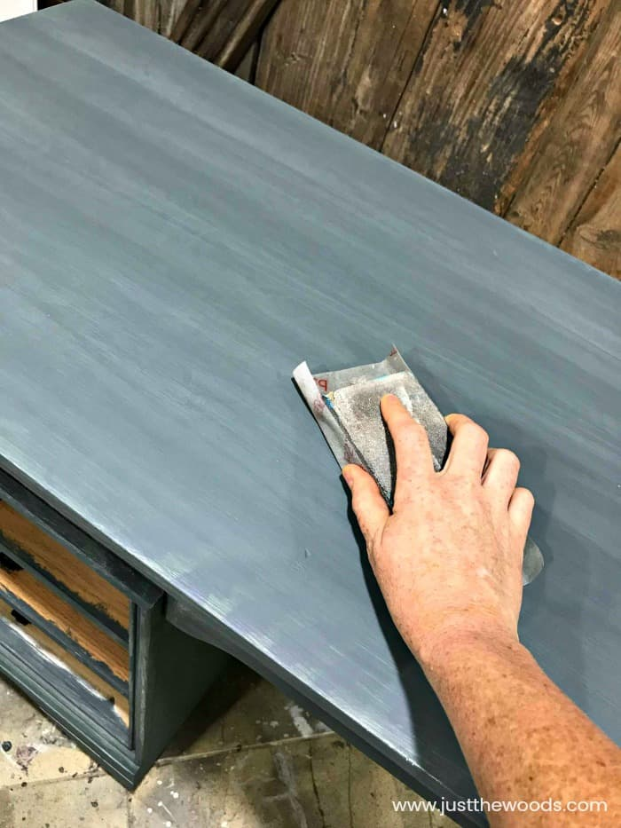 sanding chalk paint, sand between coats, chalk painting furniture, cutting edge stencils,