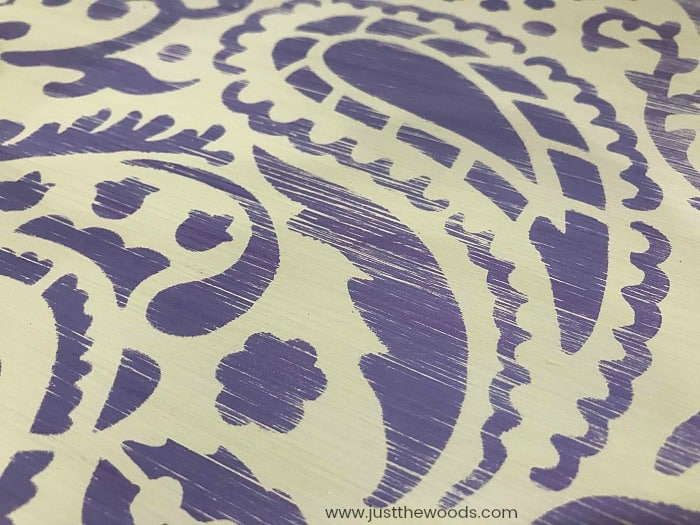cutting edge stencils, paisley stencil, sanded stencil patters, worn stencil, painted stencil