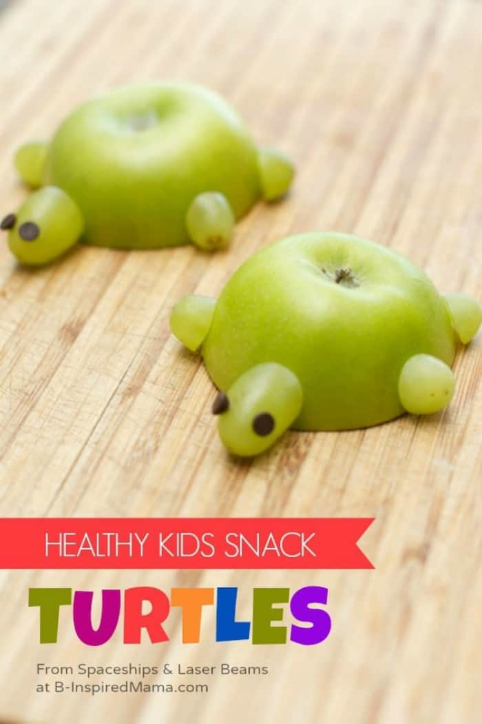 snack recipes for kids, healthy snacks for toddlers, easy healthy snacks, apple turtles