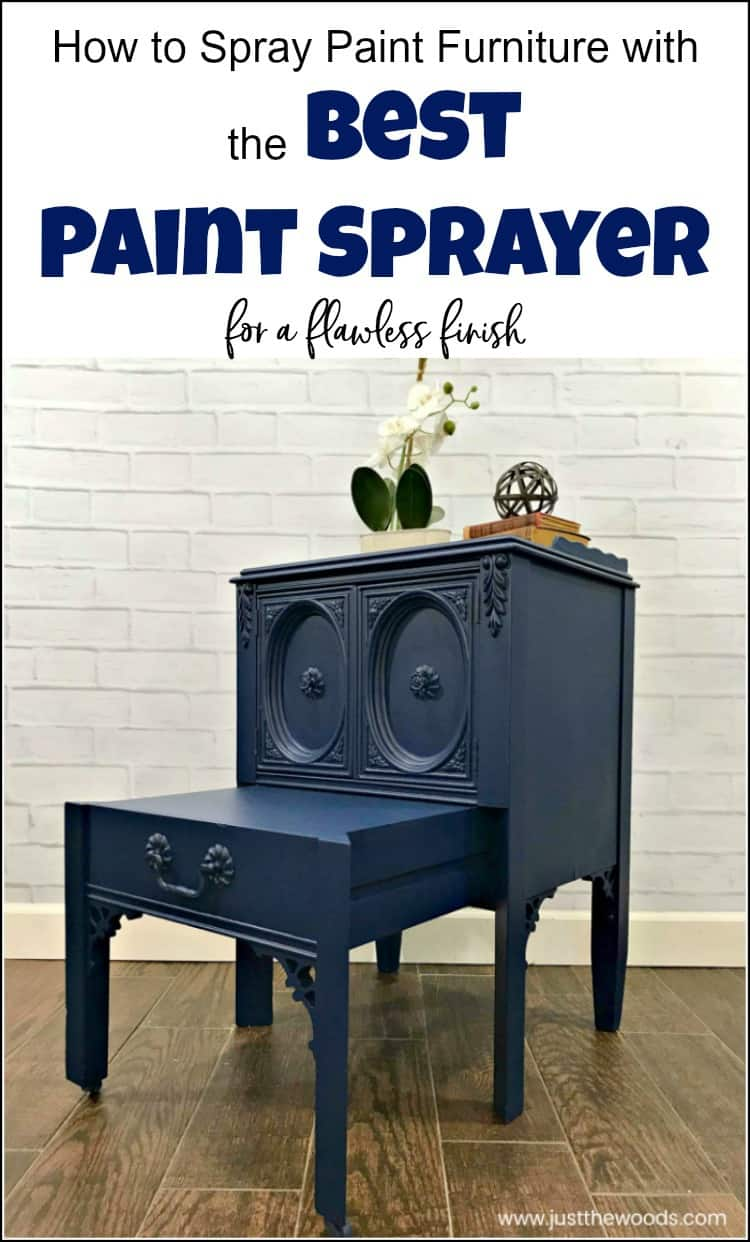 See how to spray paint furniture the easy way using the best paint sprayer. This indoor paint sprayer will make your furniture painting project a breeze. #bestpaintsprayer #paintsprayer #spraypaintfurniture #homerightpaintsprayer #howtouseapaintsprayer #spraypaintingfurniture #howtospraypaintfurniture #paintsprayers #indoorpaintsprayers