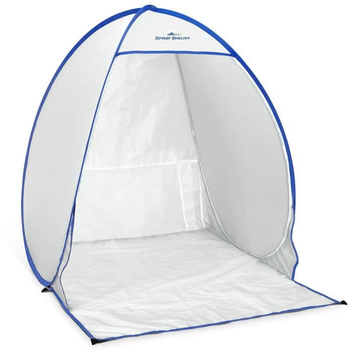 homeright spray shelter, homeright spray tent, spray paint indoors, use paint sprayer indoors