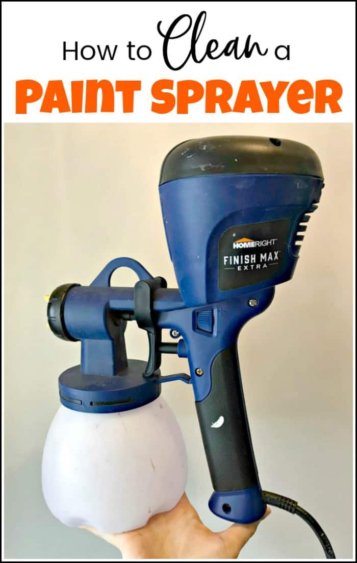 See how to clean a paint sprayer. After you use your paint sprayer for your latest DIY project make sure you are cleaning the paint sprayer thoroughly. #howtocleanapaintsprayer #paintsprayercleaning #homerightpaintsprayer #hvlppaintsprayer #cleanspraygun #cleaningpaintsprayer