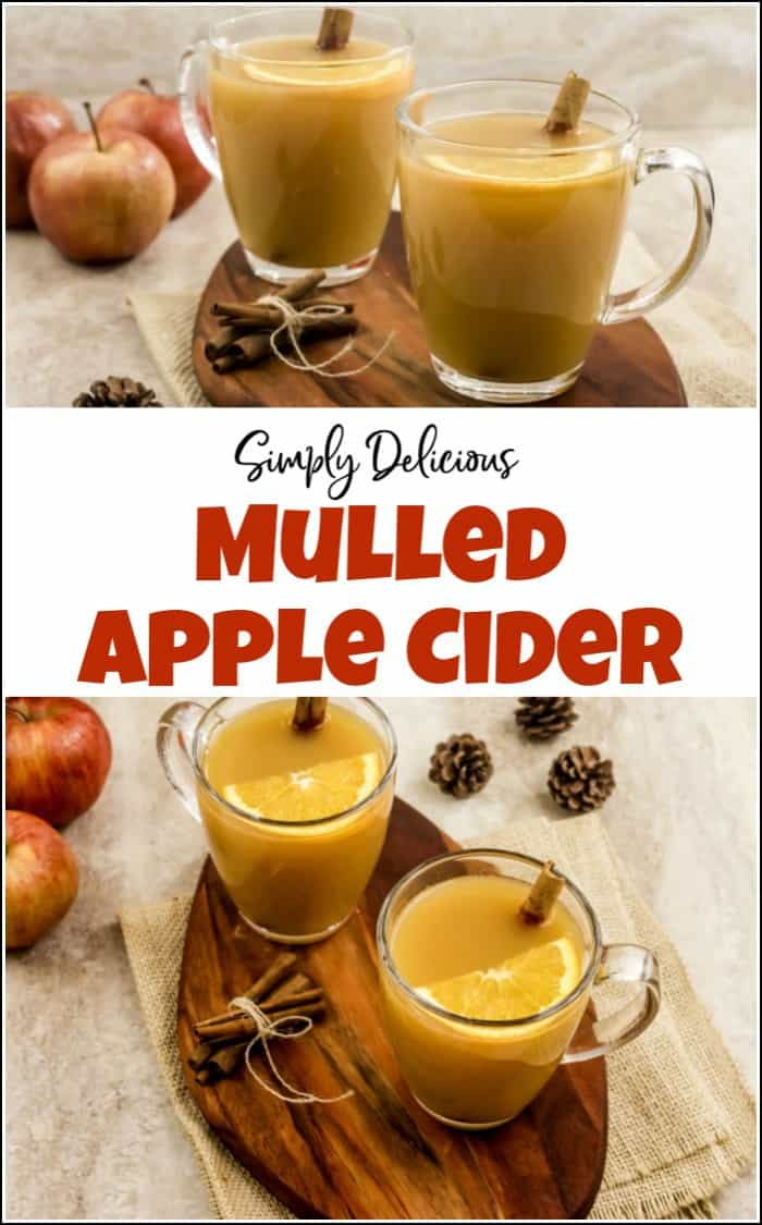 Mulled apple cider is delicious all year round. But its always better to enjoy a hot apple cider on a cool fall day. This spiced apple cider is simply delicious. #mulledcider #mulledapplecider #hotapplecider #spicedapplecider #hotappleciderrecipe
