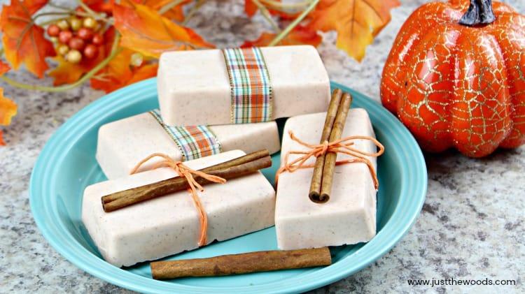 diy soap, diy soap bars, homemade bar soap, soap making, pumpkin soap, soap for autumn