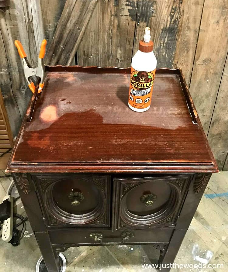 repairing vintage furniture, wood glue for furniture repair