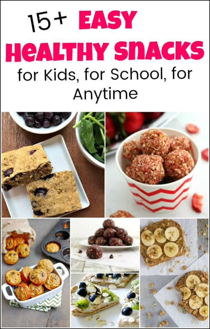 Easy healthy snacks are the best foundation to build when kids are young. Create healthy eating habits with these healthy snack recipes. #easyhealthysnacks #healthysnackrecipes #snacksforschool #schoolsnacksforkids #afterschoolsnacks #healthysnacksforschool