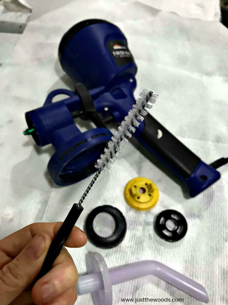 brush to clean paint sprayer, how to clean hvlp paint sprayer, homeright paint sprayer