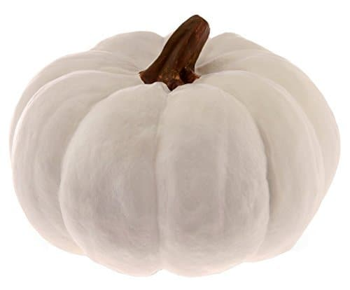 pumpkin decor, white pumpkins