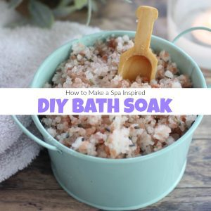 How to Make a Spa Inspired Lavender DIY Bath Soak