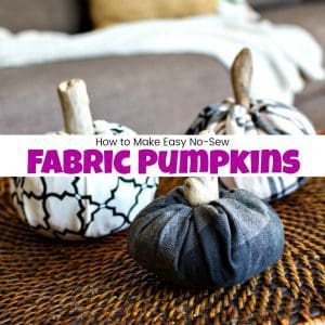 How to Make Easy No-Sew Fabric Pumpkins