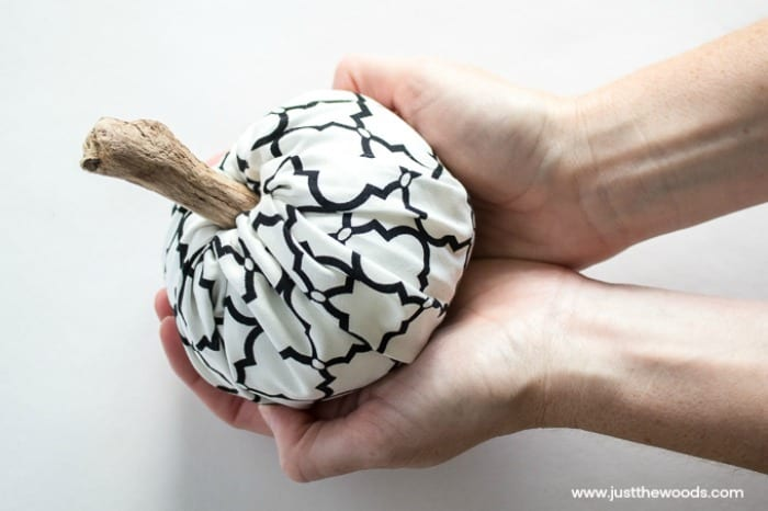 scrap fabric projects, fabric pumpkins