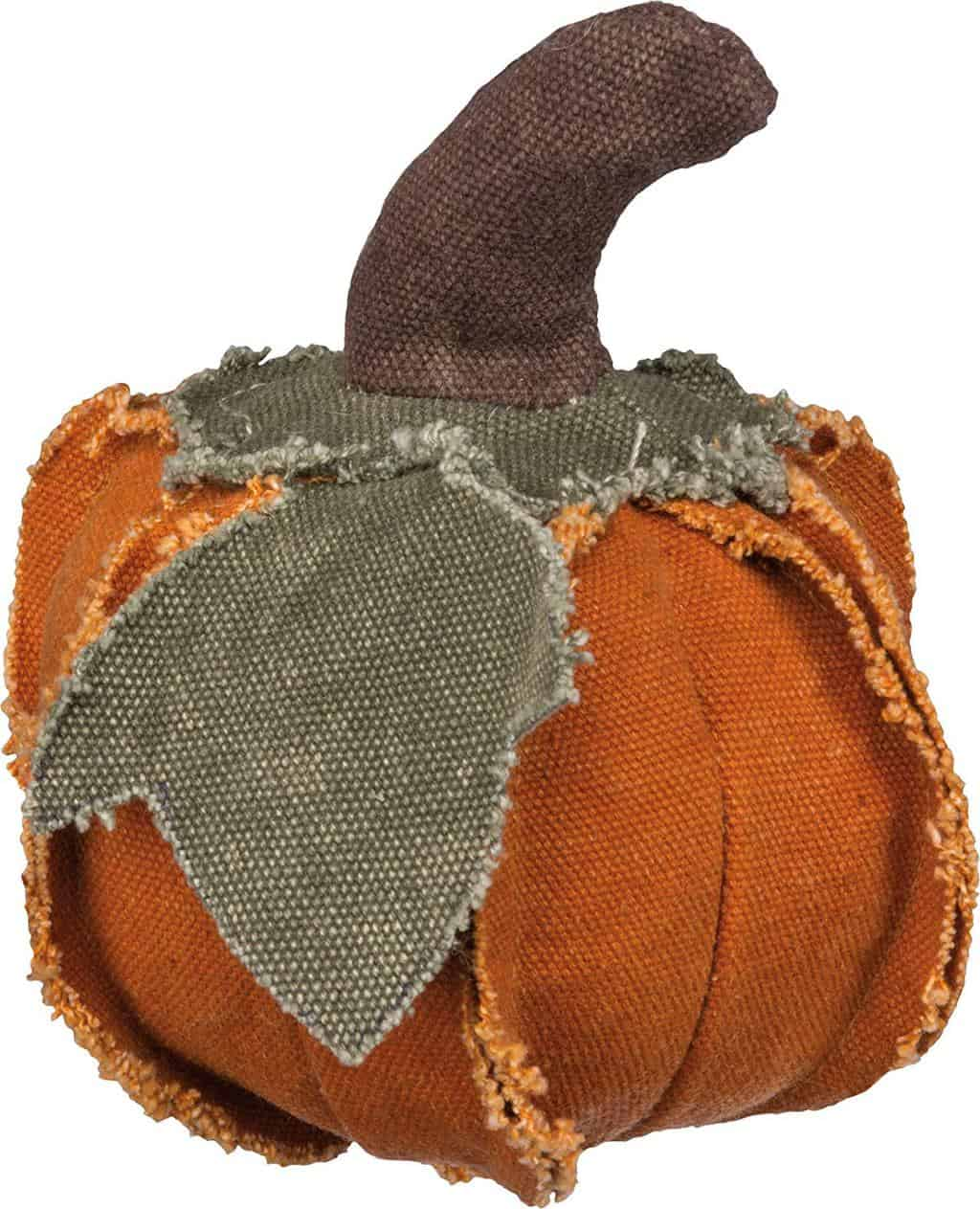 cloth pumpkin, raggedy pumpkin, primitive pumpkin, fabric pumpkin