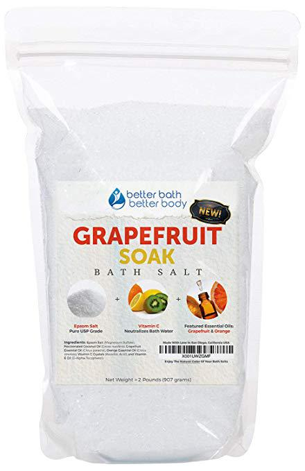 grapefruit bath salt, grapefruit bath soak