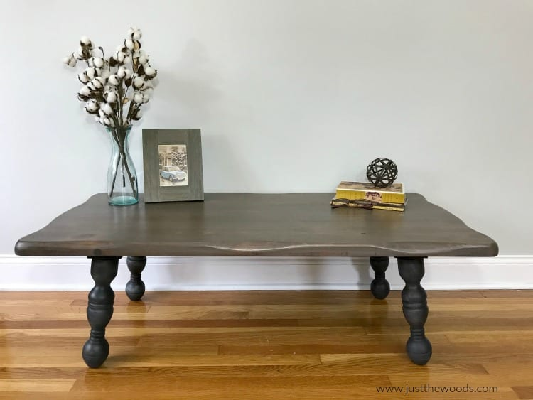 rustic wood coffee table, coffee table makeover, how to refinish furniture, furniture restoration