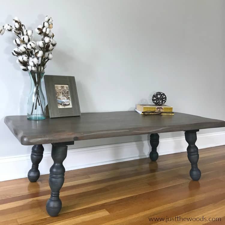 rustic wood coffee table, how to refinish a table, refinishing a table, upcycle ideas, rustic painted coffee table