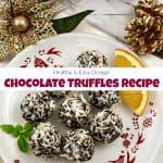 Healthy & Easy Chocolate Truffles Recipe with Orange Zest