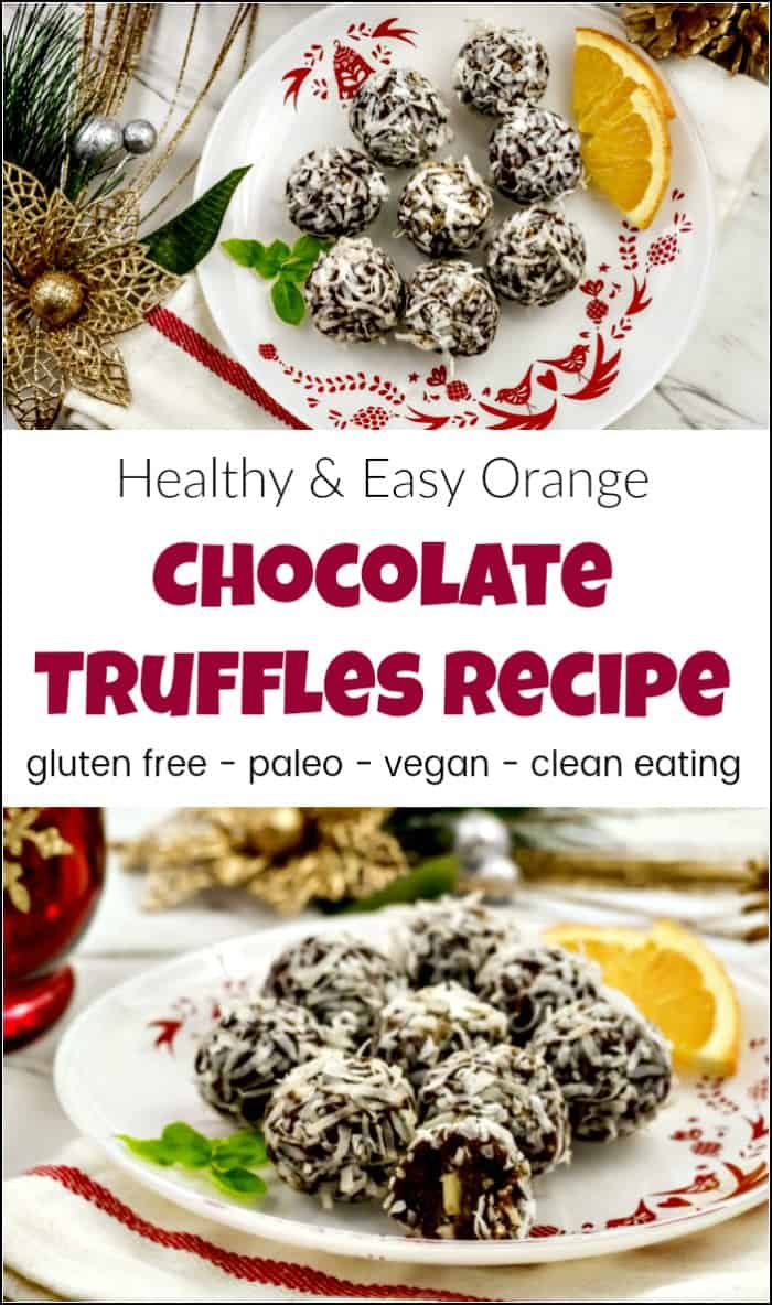 Delicious easy chocolate truffles recipe without the guilt. See how to make truffles without added sugar with this easy chocolate truffle recipe. Homemade truffles made with cacao and natures sweeteners. #easychocolatetruffles #chocolatetrufflerecipe #cleaneating #vegantruffles #howtomaketruffles #chocolatetruffles #healthysnacks #easytrufflerecipe #howtomakechocolatetruffles #homemadetruffles