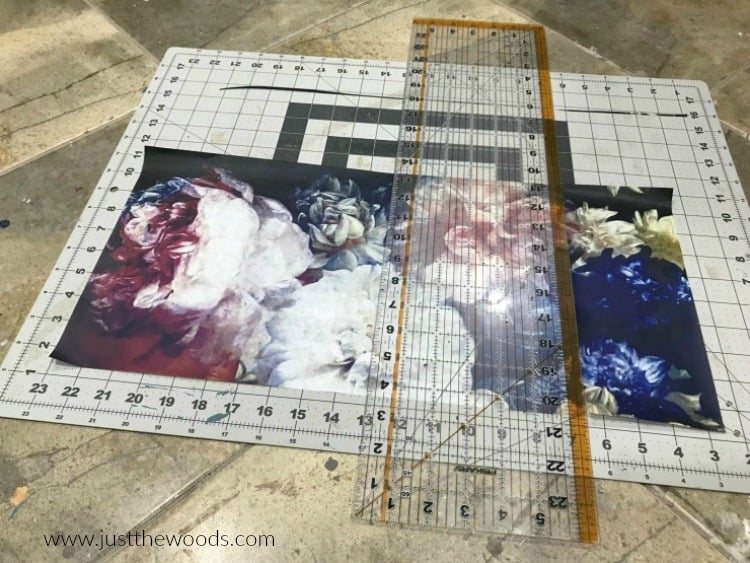 cutting mat, decoupage tissue, how to decoupage, hand painted furniture