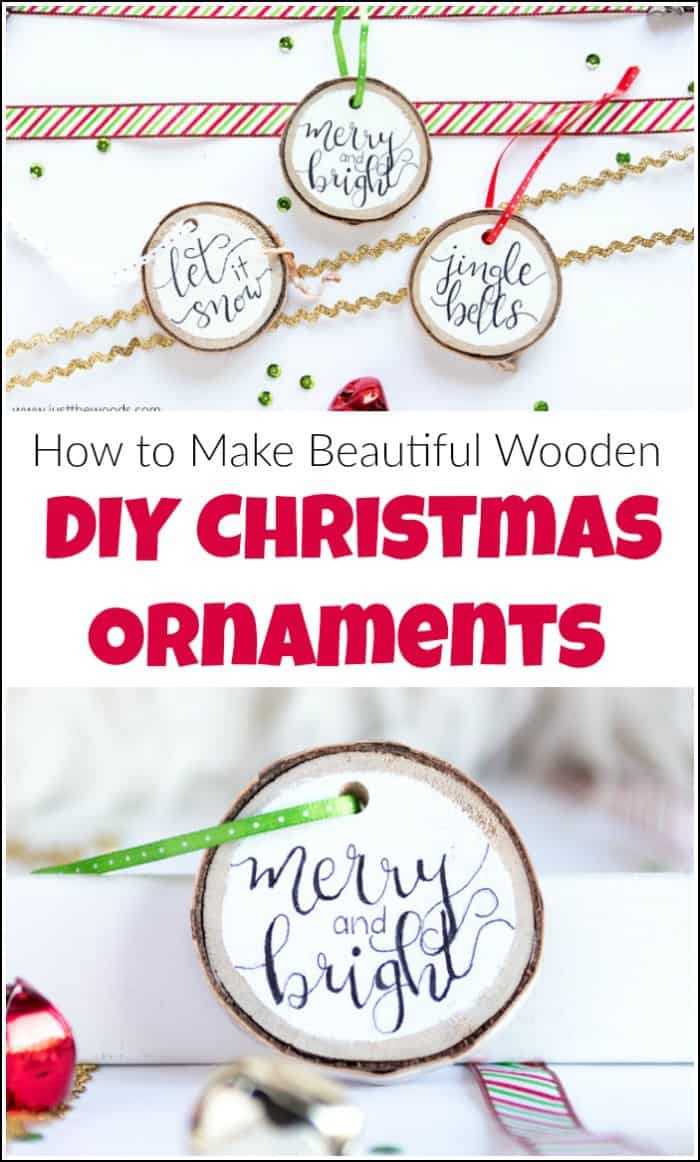 Homemade Christmas ornaments can be fun and easy to make. These wooden DIY Christmas ornaments can be as unique and personal as you like. See how to make easy Christmas ornaments with just a few simple steps. #homemadeChristmasornaments #DIYChritmasornaments #handmadeChristmasornaments #woodenornaments #woodenChristmasornaments #Christmasornamentideas