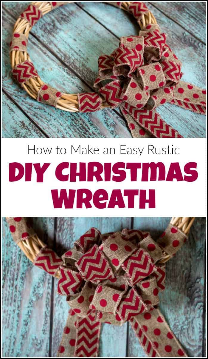 See how to make a Christmas wreath. When it comes to Christmas wreath ideas this easy DIY wreath is great for the holidays or any day. Make your own Christmas wreath with burlap ribbon. #christmaswreath #howtomakeachristmaswreath #DIYchristmaswreath #diyholidaywreath #diywreath #wreathmaking #christmaswreathideas #holidaywreaths