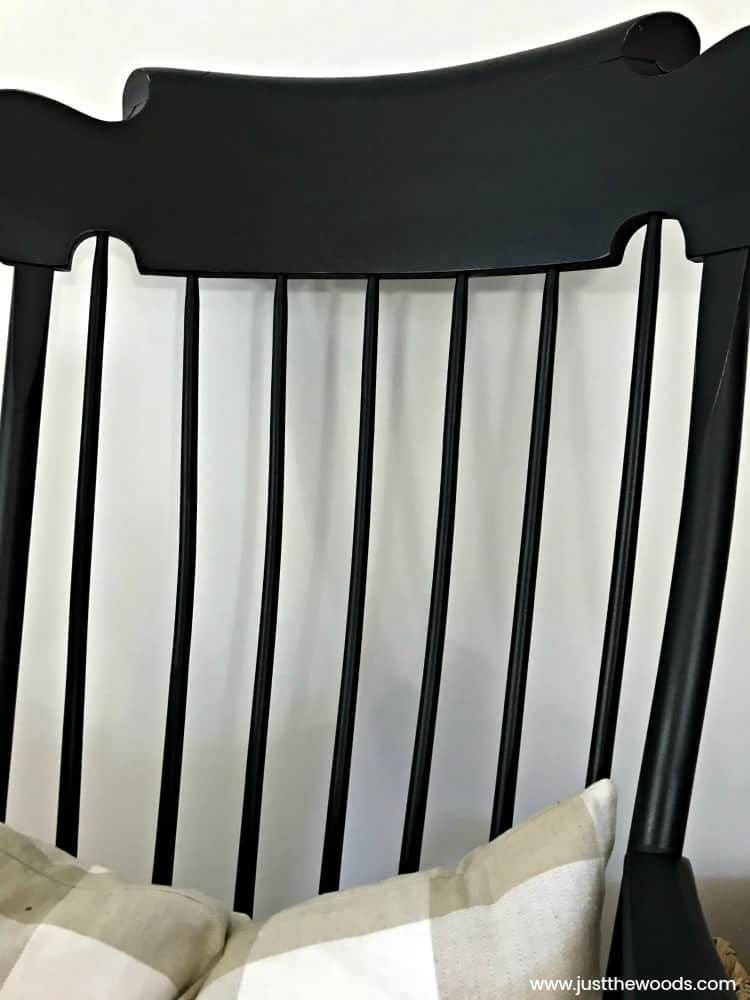 how to paint spindles, painted rocking chair before and after, wooden rocking chair painted