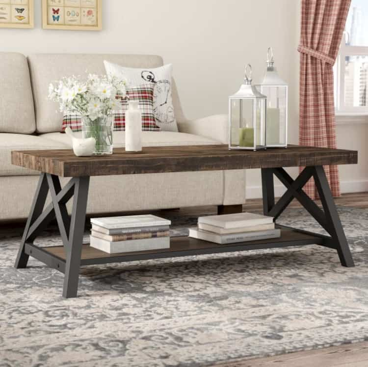Modern Farmhouse Coffee Table Rustic Tables Wooden