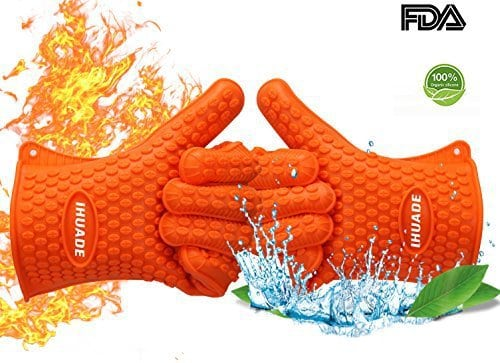 oven mitts, oven gloves, orange oven mitts, silicone oven gloves
