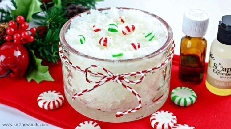 peppermint sugar scrub, mint scrub recipe, peppermint scrub