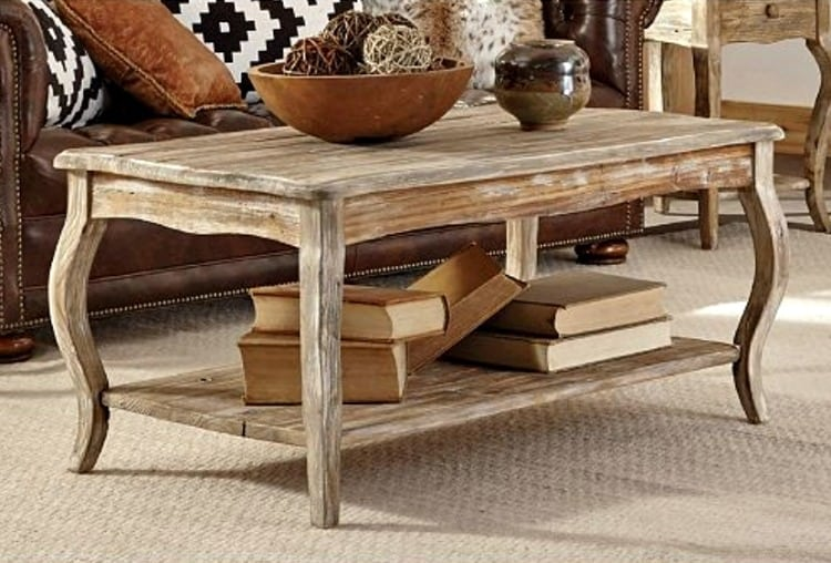 french country coffee table, wooden coffee table, curvy legs coffee table, rustic coffee tables