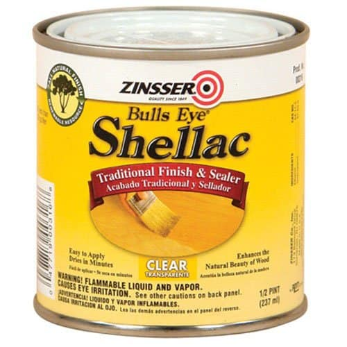 bulls eye shellac, clear shellac, seal odors with shellac, block stains shellac, seal wood, bleed through
