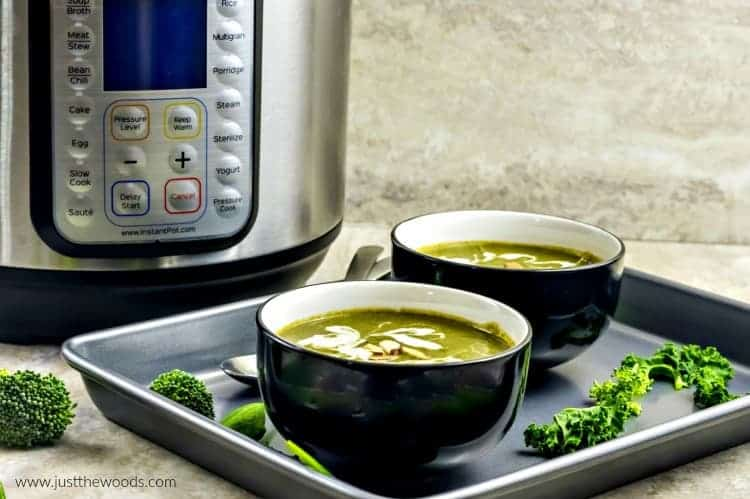 spinach soup, instant pot soup, spinach soup recipe