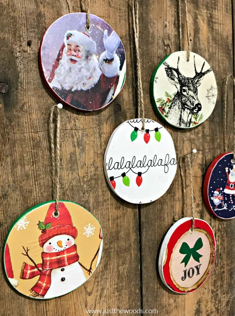 diy ornaments, DIY Wooden Christmas Ornaments, homemade ornaments, handmade ornaments