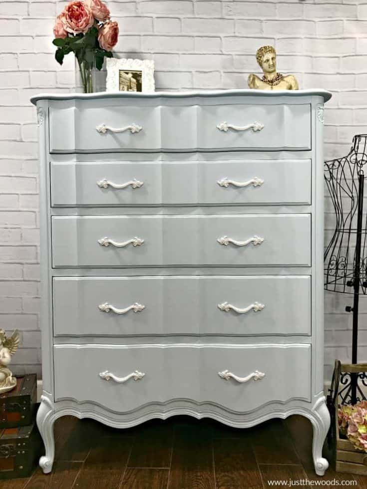 How to Paint the Perfect Powder Blue Painted Dresser