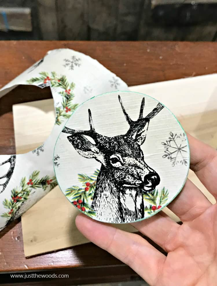 personalized ornaments, wooden ornaments, deer ornament