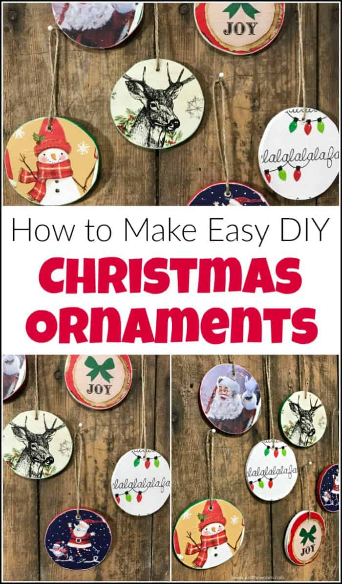 Ready to make your own Christmas ornaments? These easy DIY wooden Christmas ornaments are the perfect amount of vintage style and personal touch. See how to make your own DIY Christmas ornaments to keep or gift. #DIYChristmasornaments #woodenornaments #woodenChristmasornaments #homemadeChristmasornaments #scrollsawprojects #woodenChristmastreeornaments
