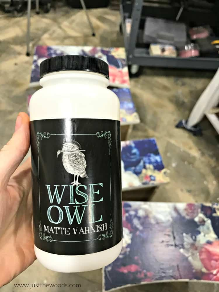 wise owl varnish, sealer for painted furniture, matte varnish, clear sealer for chalk paint