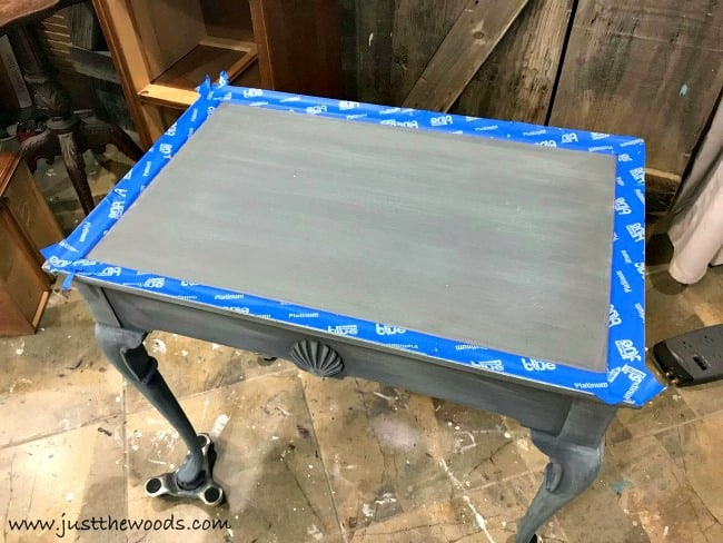 scotch blue platinum, painters tape, blue painters tape, how to tape painted furniture