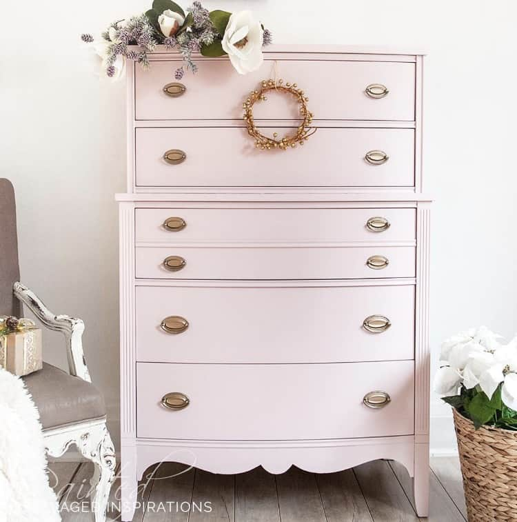 painted dresser ideas, pink painted dresser, tall painted dresser