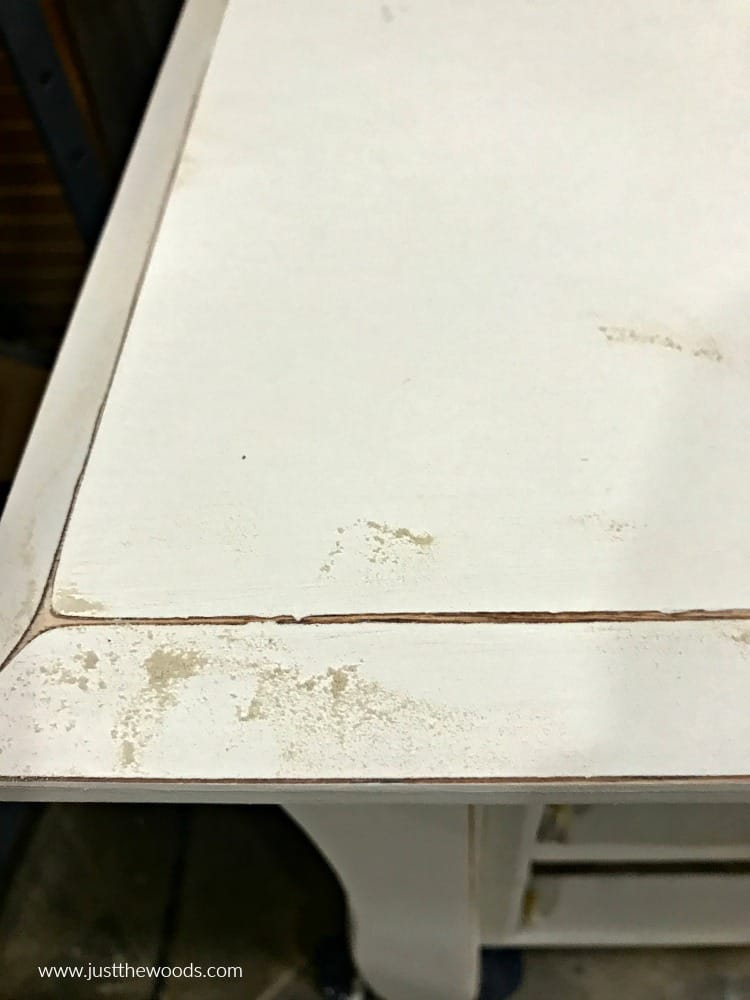distressing painted furniture, dust from distressing paint