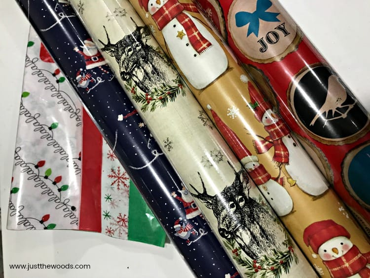 DIY Wooden Christmas Ornaments, wrapping paper decoupage, ornament making
