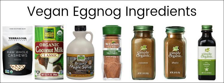 vegan eggnog, eggnog recipe, whats in eggnog, eggnog ingredients, what is eggnog made of