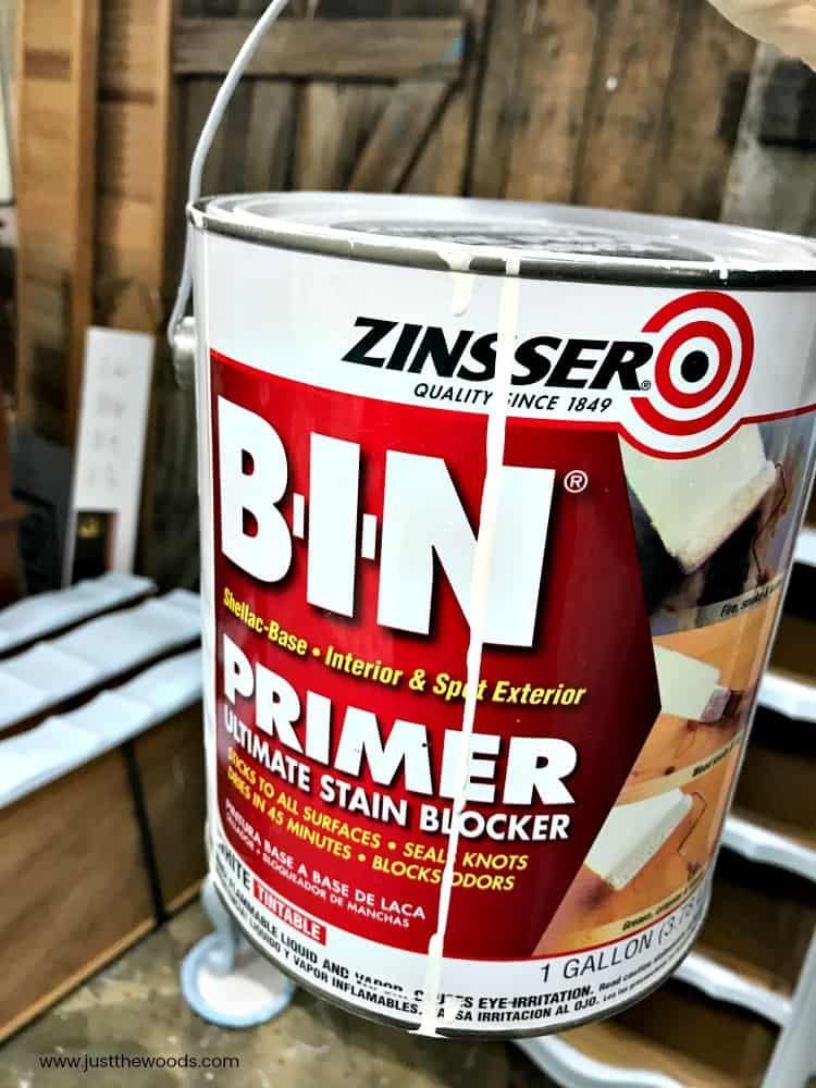 bin primer, zinsser primer, shellac based primer
