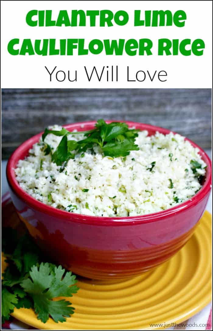 Cilantro lime cauliflower rice is a great way to get vegetables into your diet. This easy cauliflower rice recipe is so easy to make and you will love it. Clean eating cauliflower recipe for the whole family. #cauliflowerrice #cilantrolimecauliflowerrice #cilantrocauliflowerrice #cauliflowerricerecipes