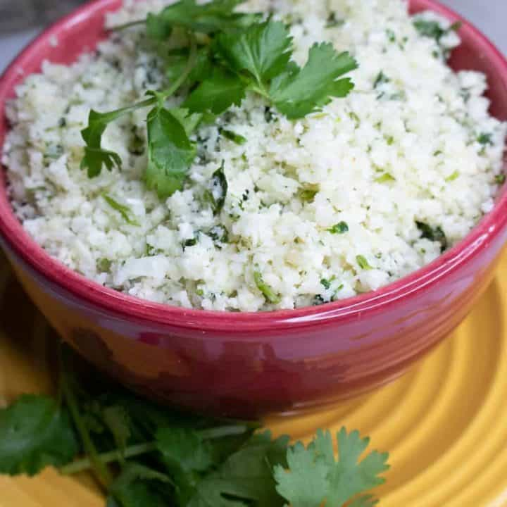 Cilantro Lime Cauliflower Rice