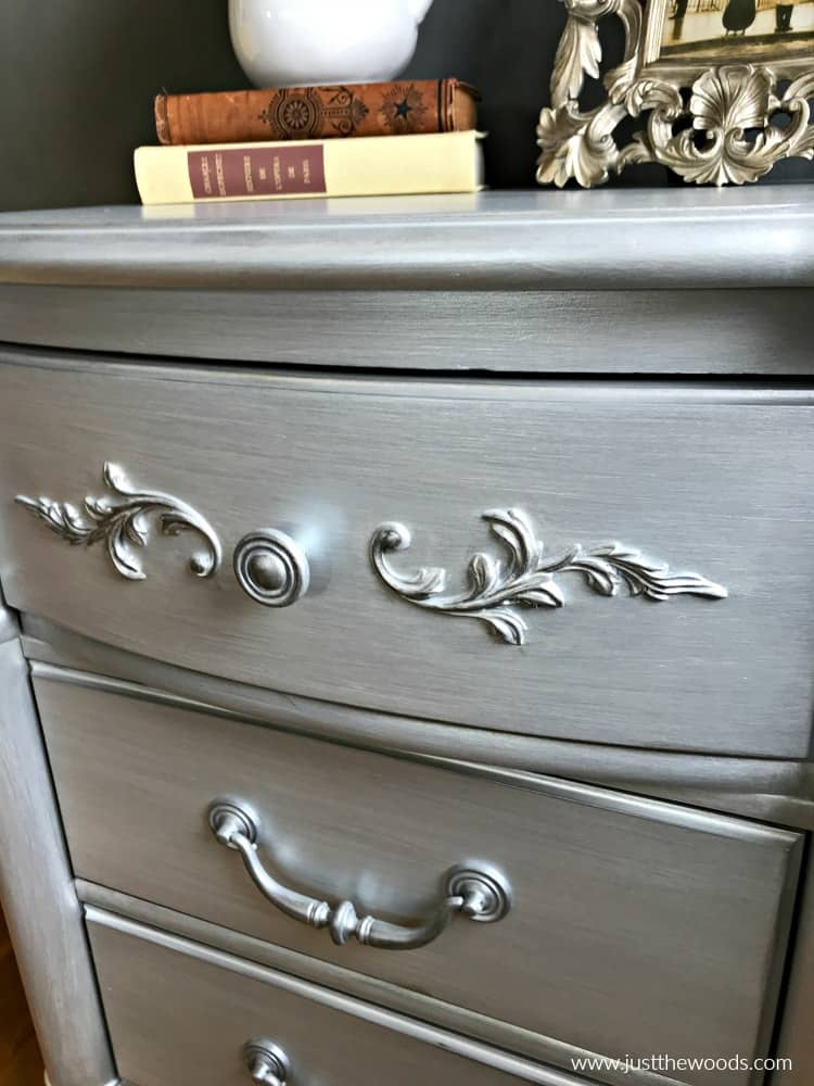 gilding wax on painted furniture, silver gilding wax, how to use gilding wax