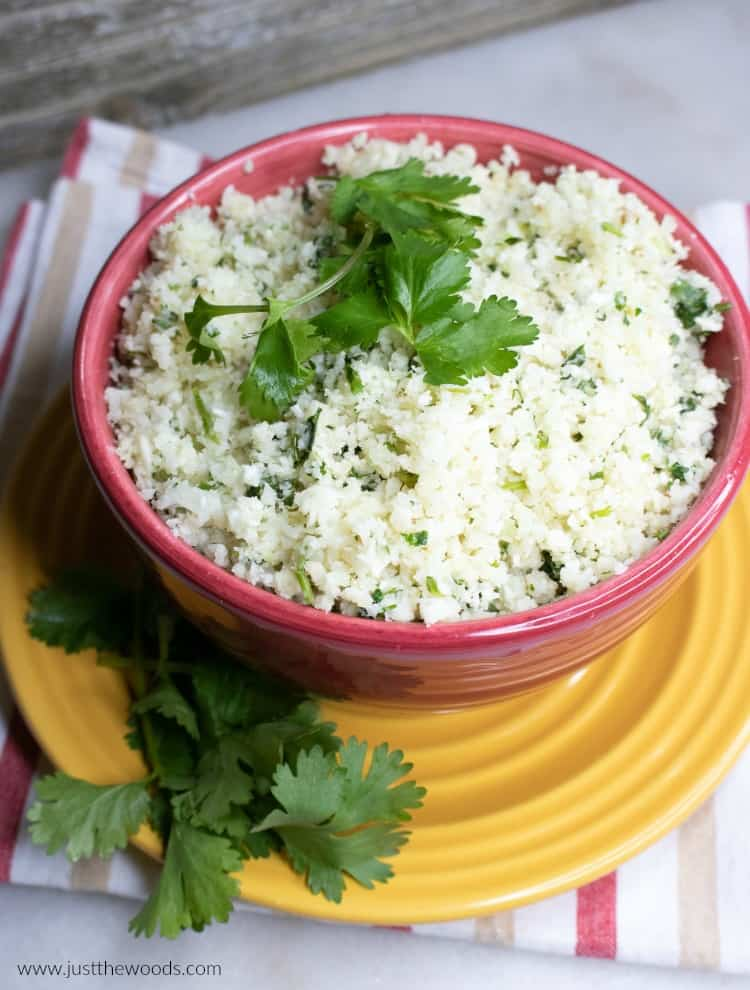 cauliflower rice recipes, cilantro lime cauliflower rice, easy cauliflower rice