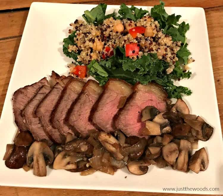 clean eating beef, clean eating dinner, clean eating foods, quinoa salad, kale salad